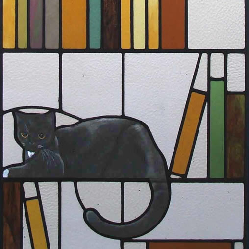 ART:ERY Stained Glass Pattern Co-Op ::: Ribbon Cat